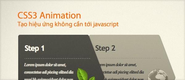 CSS3 Animation: Bắt đầu tạo hiệu ứng không cần tới